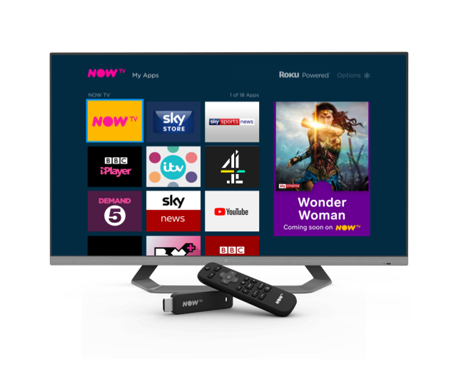 Some of the apps available on the NOW TV Box