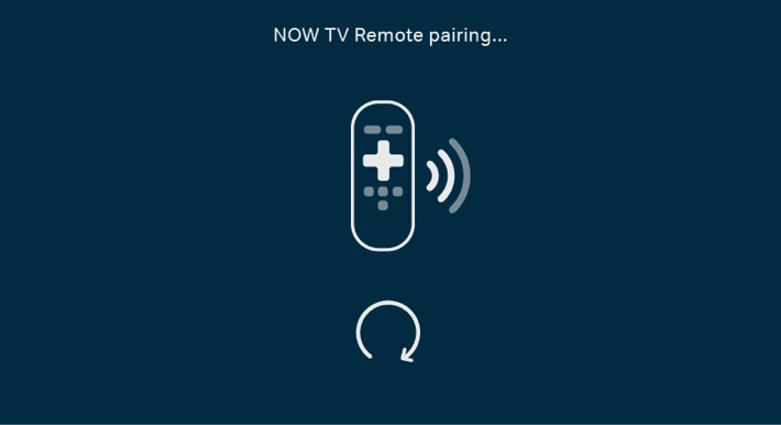 You'll see this screen while your remote pairs with your Smart Stick.