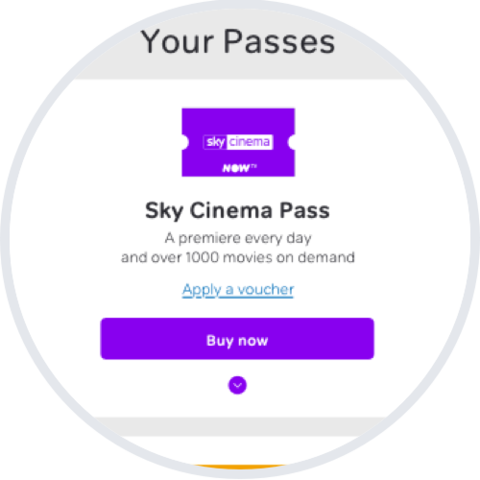 Select the Buy now button next to the cancelled Pass you want to restart