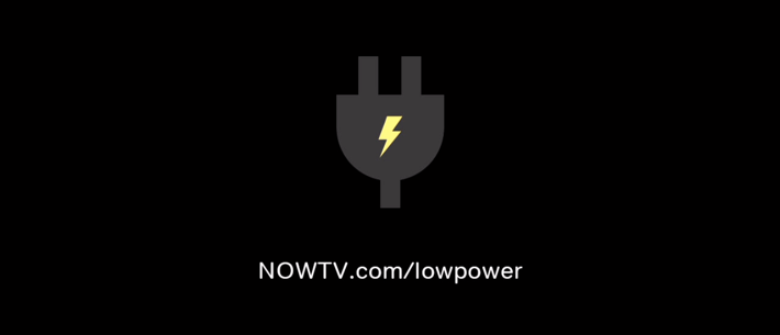 Low power error message for NOW TV Smart Stick