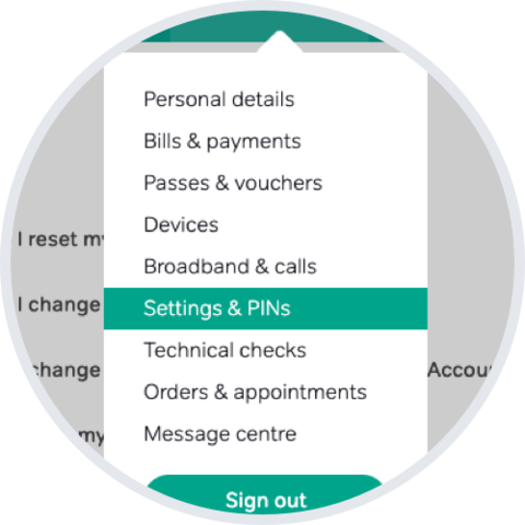 Change/Reset Parental Or Payment PIN Setting