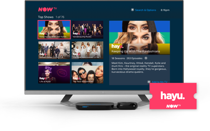 The hayu Month Pass is your ticket to get stuck into the most addictive reality TV.