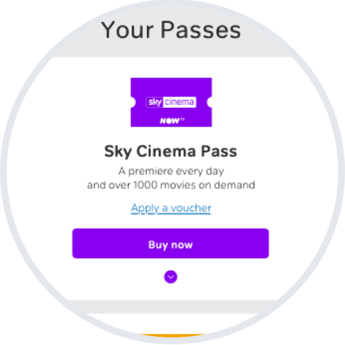 Select 'Buy now' in My Passes next to the Pass you want to renew