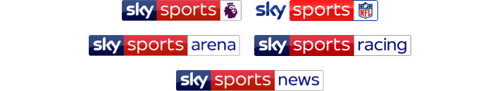 Sky Sports Premier League, Sky Sports Action, Sky Sports Arena, Sky Sports News and Sky Sports Racing