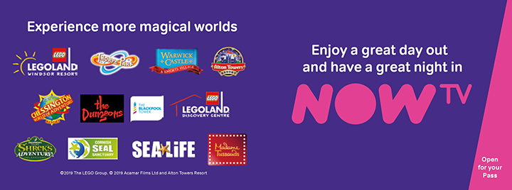 Legoland and Alton Towers NOW TV offer