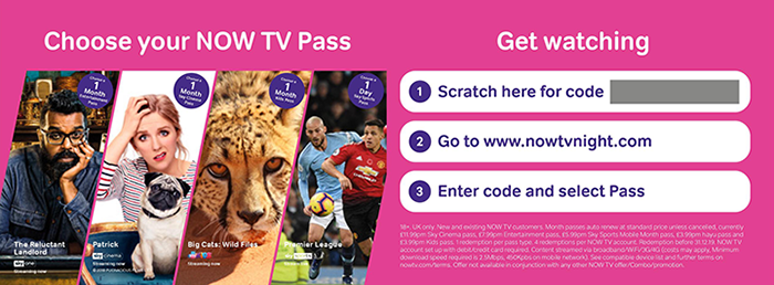 Choose your NOW TV Pass and get watching