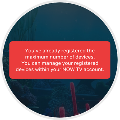 Maximum number of devices registered