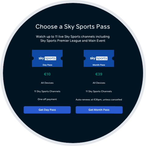 Select either Day Pass or Month Pass.