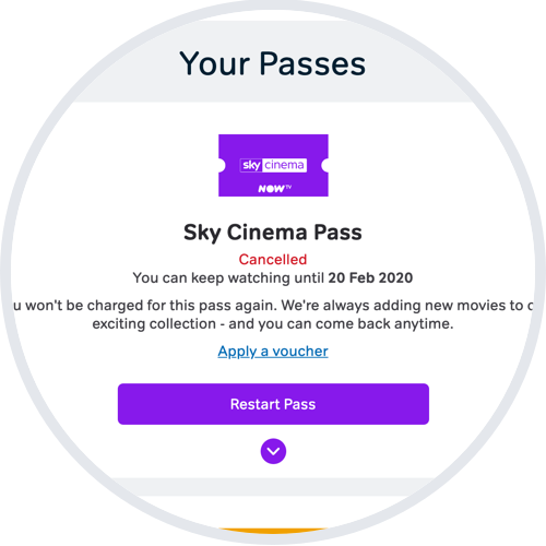 Select 'Restart' next to the Pass you want to start again