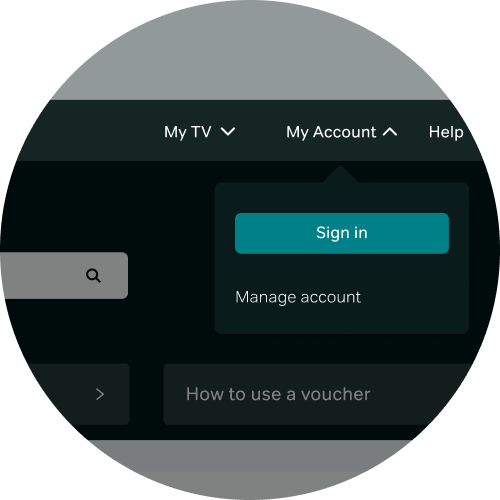 Go to My Account and select Sign in