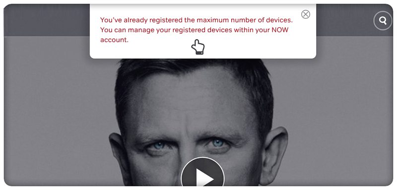 You've registered the maximum number of devices