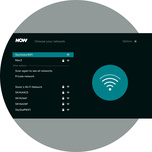 Select your hotel's wireless network