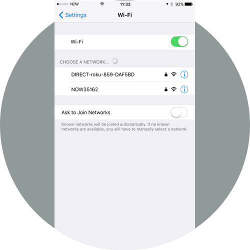 Go to wireless settings and connect to your device