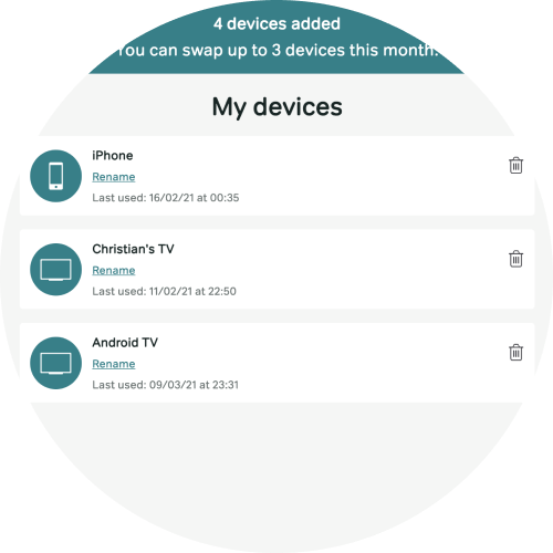 Use the Last used date to help you tell the difference between 2 or more of the same device.
