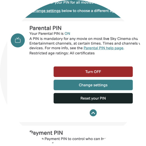 Select 'Reset your PIN'