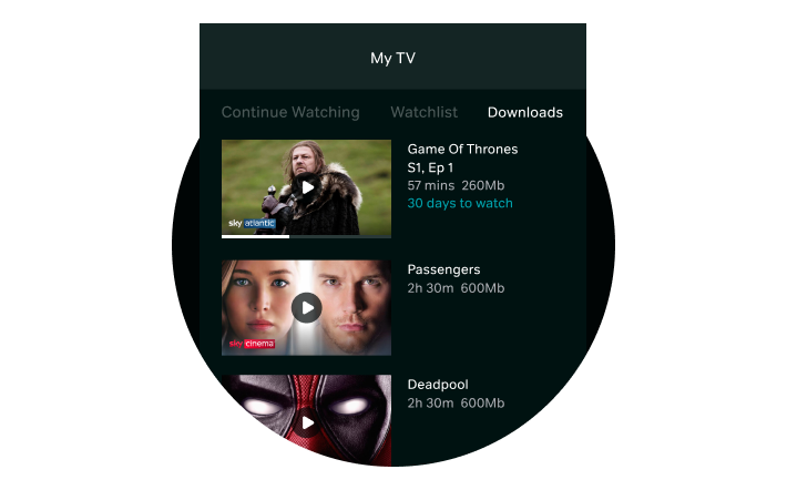 Downloads in My TV