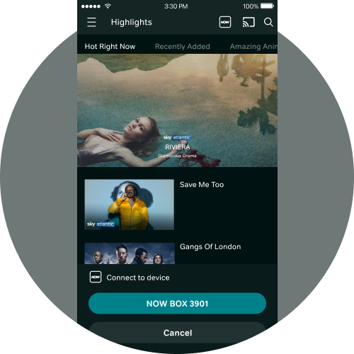 iOS casting - Select your NOW TV Box