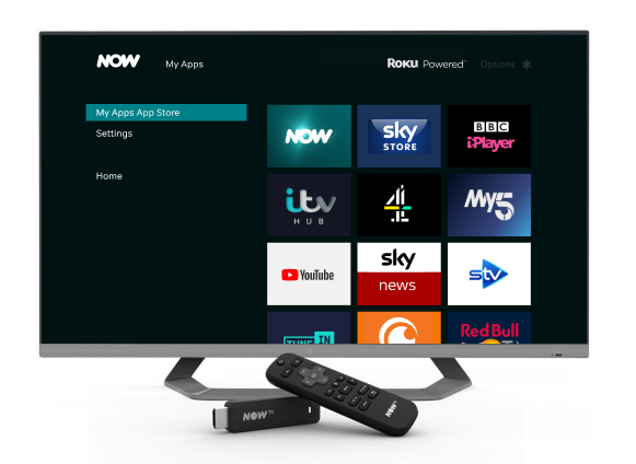 Apps on the NOW TV Box and Smart Stick