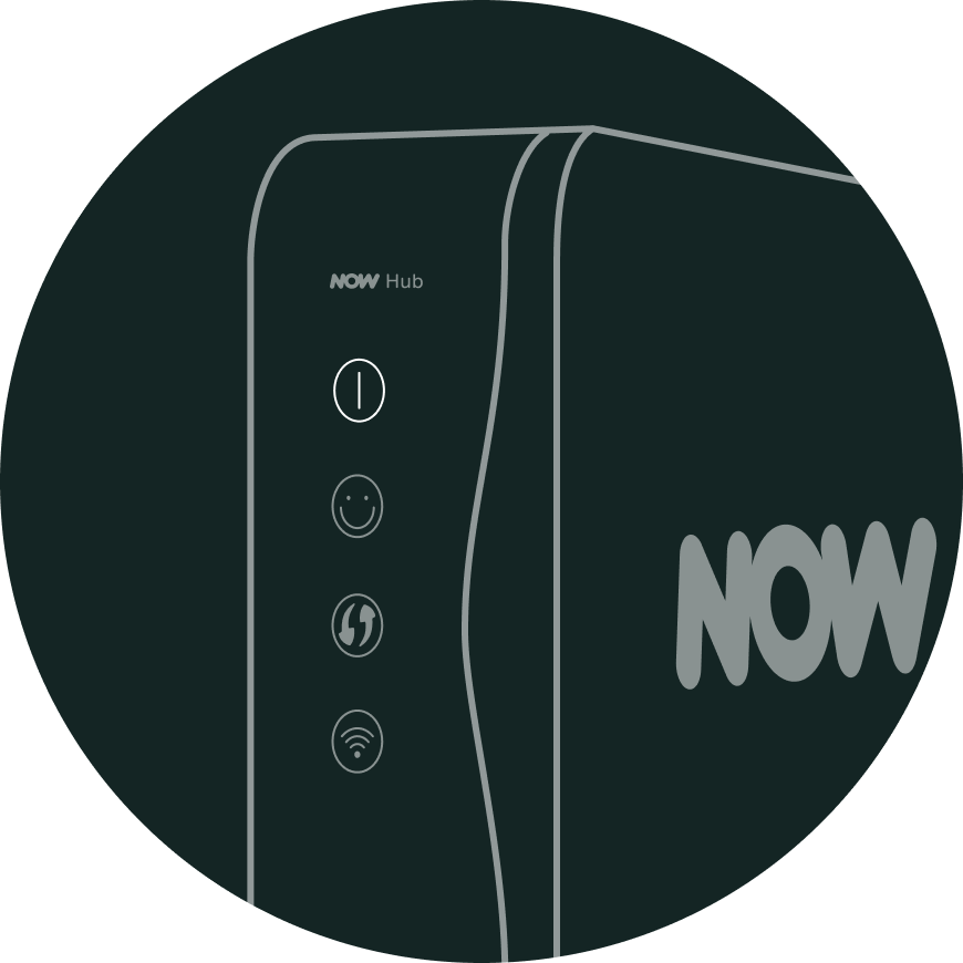 Check the power light on your NOW TV Hub