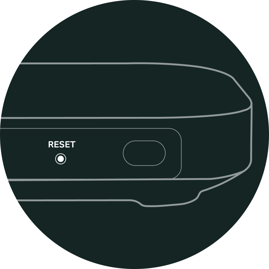 Hub Two reset button
