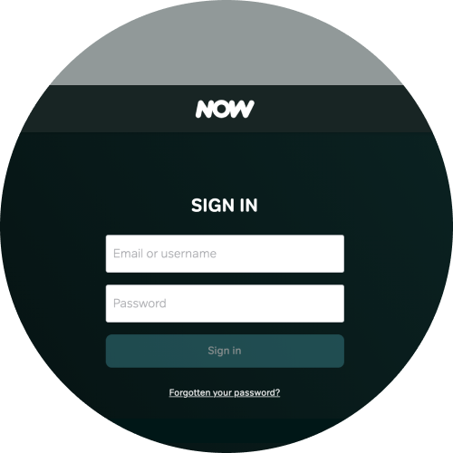 Select the 'Forgotten your password?' link on the sign-in screen
