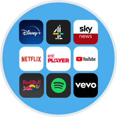 Some of the apps on the NOW TV Box and Smart Stick, including Netflix and YouTube