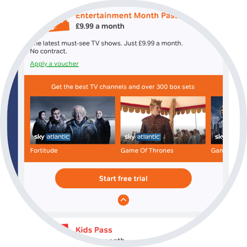 Start a free trial in Passes & vouchers