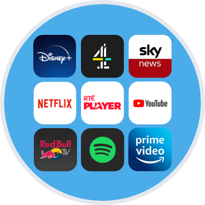 Some of the apps available on your NOW TV Stick or Box